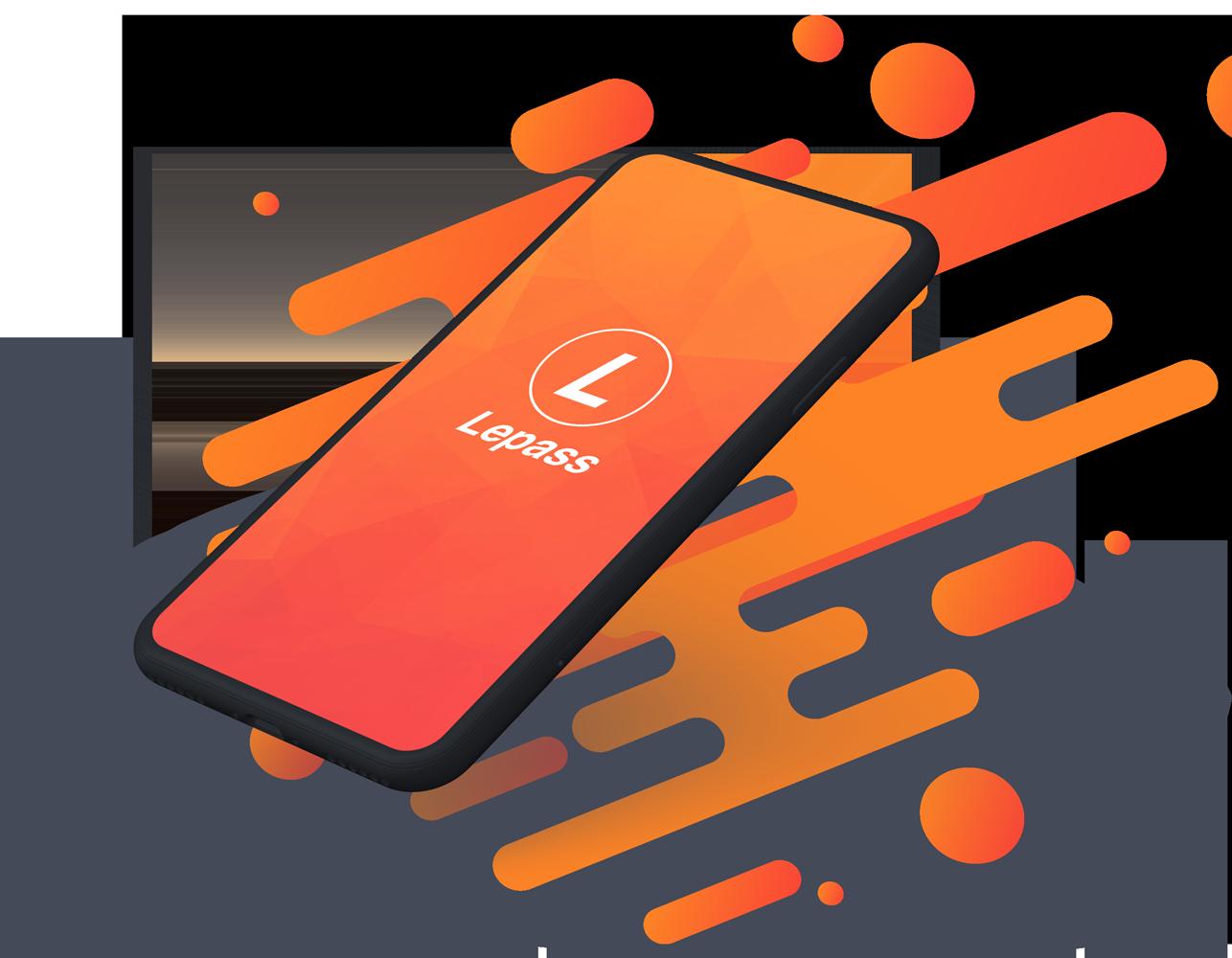 écran présentation application le pass mobile téléphone orange logo